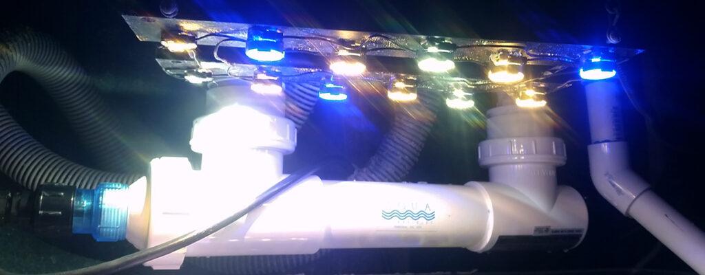 25 watt Aqua Ultraviolet Sterilizer plumbed above refugium