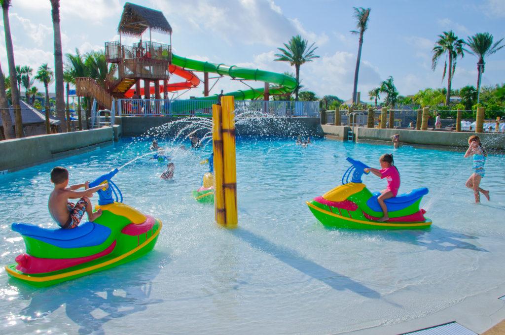 Kids playing on Jet Ski water guns at Palm Beach Moody Gardens 1 1024x680 - Moody Gardens Palm Beach Birthday Party