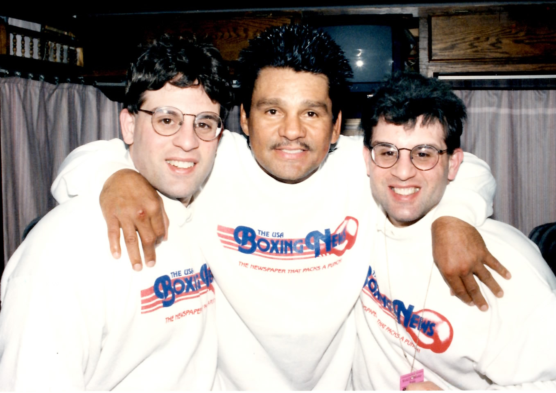 Alex and John Rinaldi with the legendary Roberto Duran