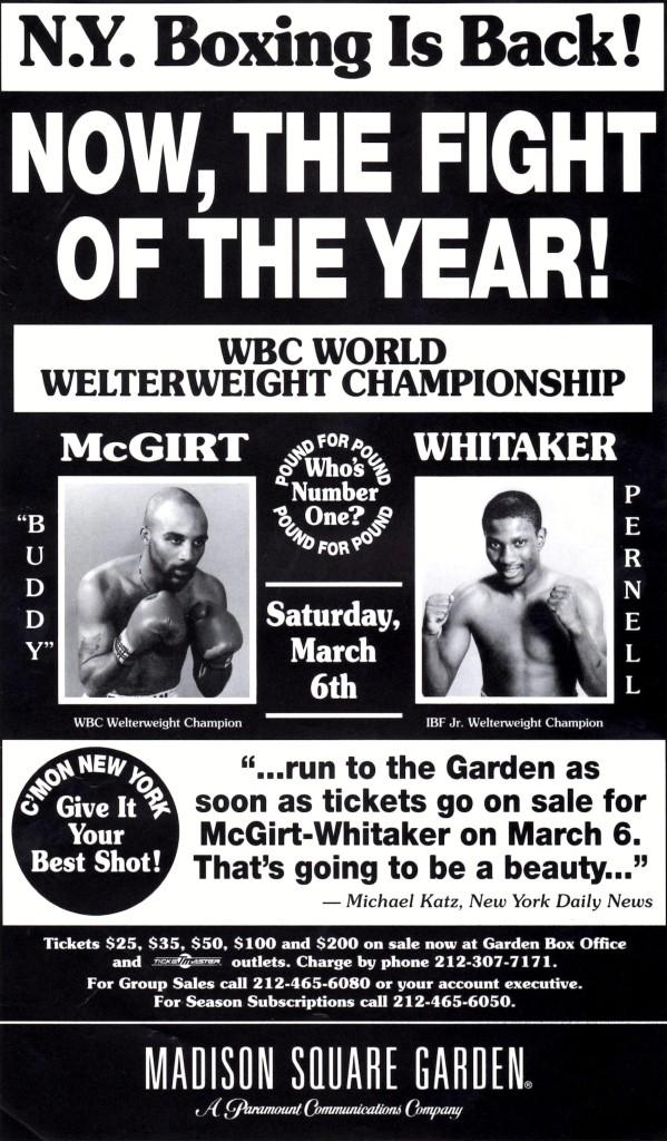McGirt vs. Whitaker I Fight Poster