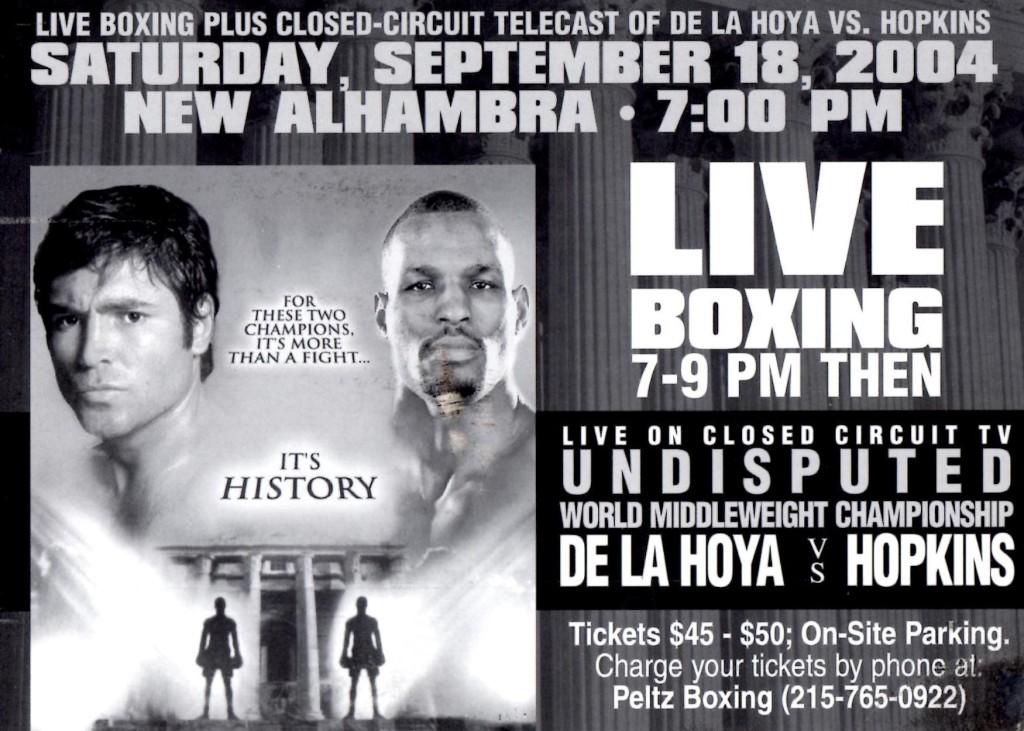 De La Hoya vs. Hopkins Fight Poster