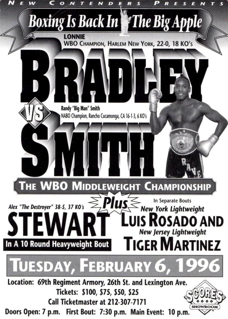 Bradley vs. Smith Fight Program
