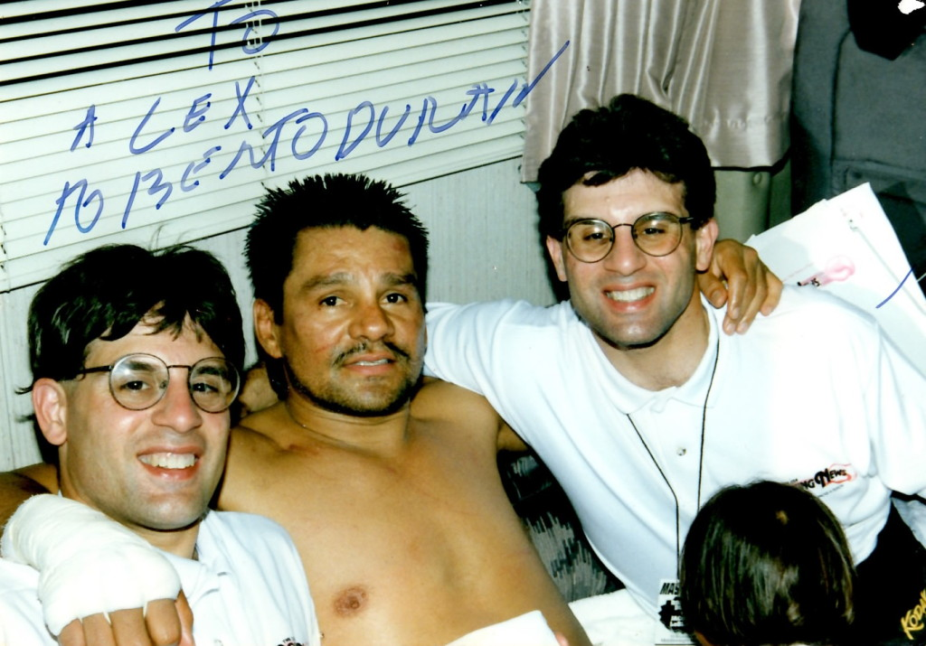 Alex and John Rinaldi with Roberto Duran