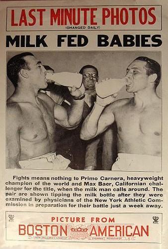 Primo Carnera and Max Baer Milk Ad