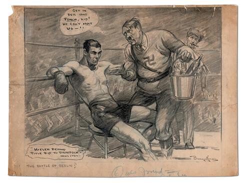 Boxing - World War II Cartoon