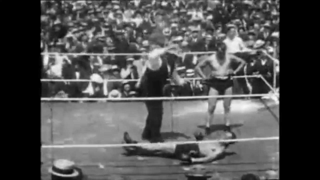 Fight Action #9Fight Action Burns-Squires 1907