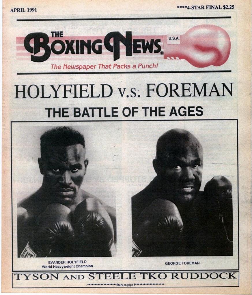 LLLLLLLLBoxing News April 1991 cover