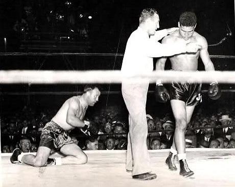 Joe Louis vs. Jack Sharkey in 1936