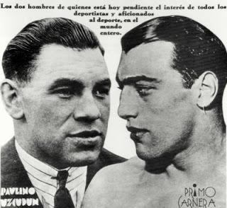 Primo Carnera vs. Paulino Uzcudin in 1933 (CLICK PHOTO TO VIEW FIGHT VIDEO)