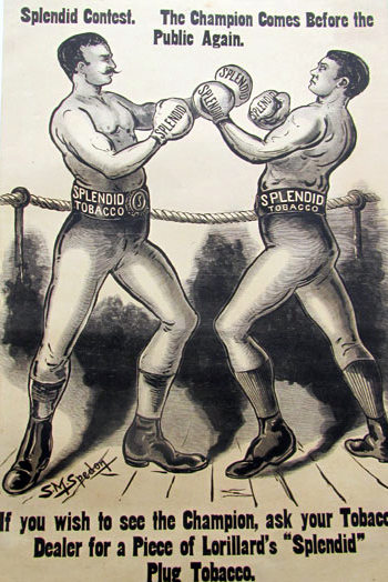 bare knuckle boxing ad