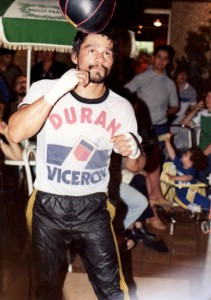 Roberto Duran training for Davey Moore fight in 1983 (PHOTO BY ALEX RINALDI)