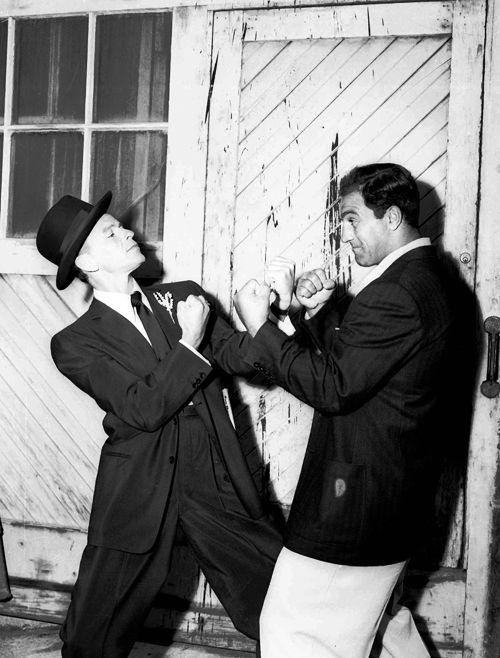 Rocky Marciano (R) and Frank Sinatra (L)