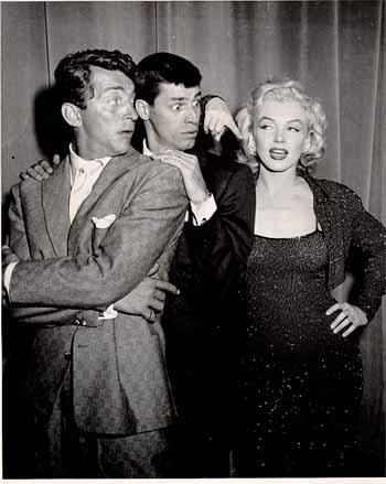 Martin and Lewis with Marilyn Monroe