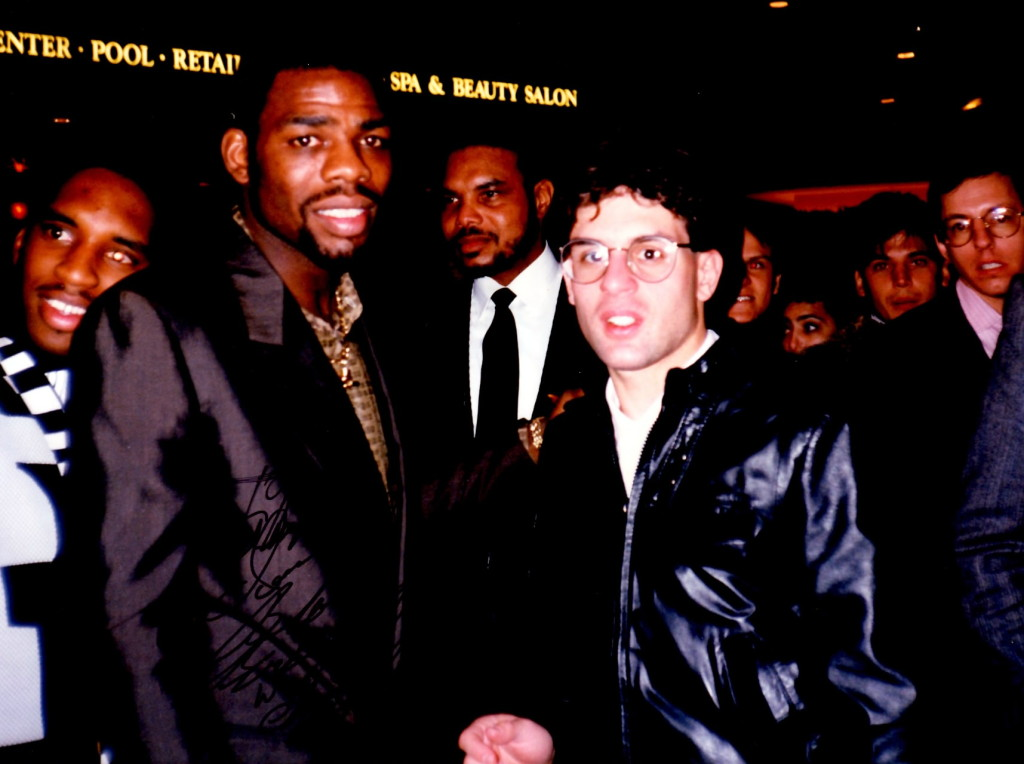 """Triple Champion Iran """"The B;lade"""" Barkley (L) with Alex Rinaldi in 1989"""