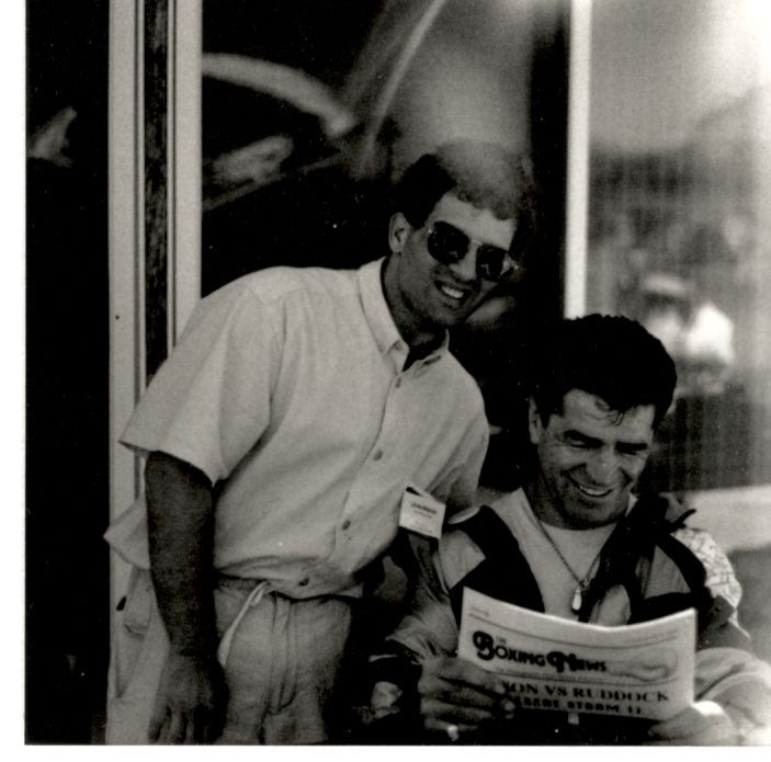 Former Middleweight Champion Vito Antuofermo reading The USA Boxing News