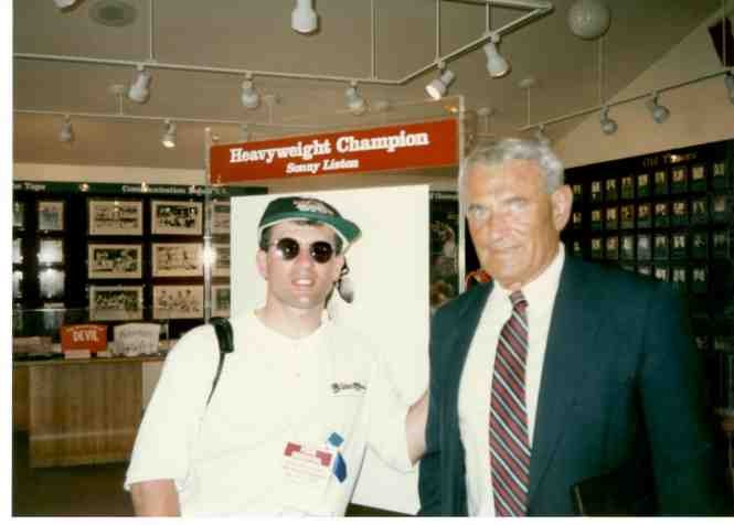John Rinaldi with Hall of Famer trainer Gil Clancy