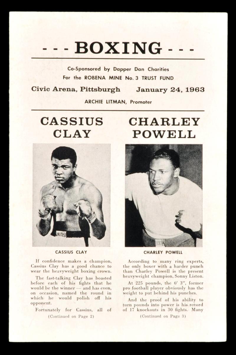 FIGHT PROGRAM CLAY-POWELL.