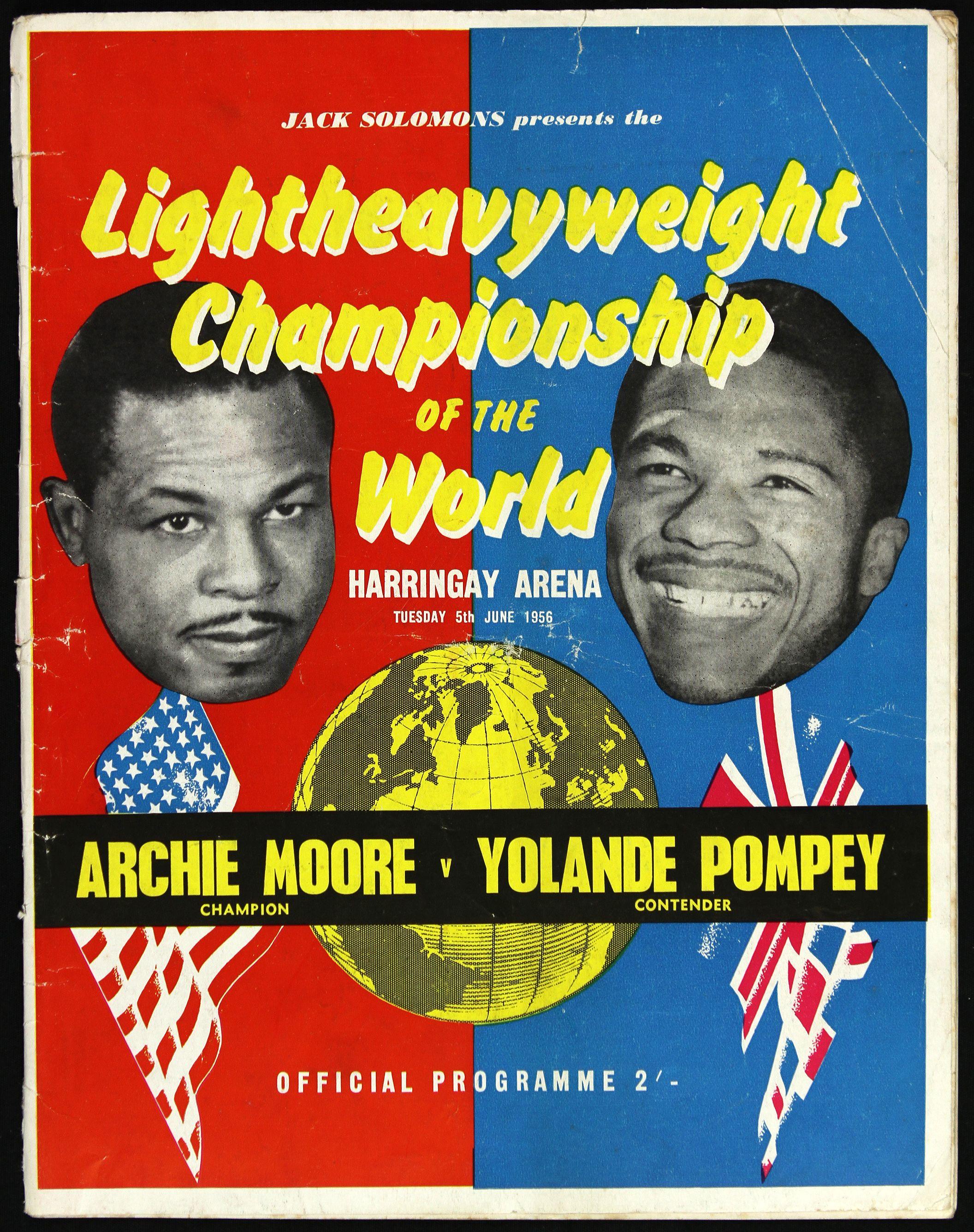 FIGHT PROGRAM MOORE-POMPEY.