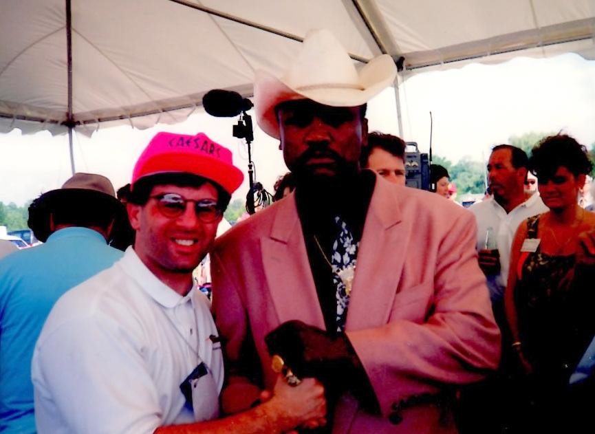 Joe frazier with John Rinaldi at The Boxing Hall of Fame * (PHOTO BY ALEX RINALDI)