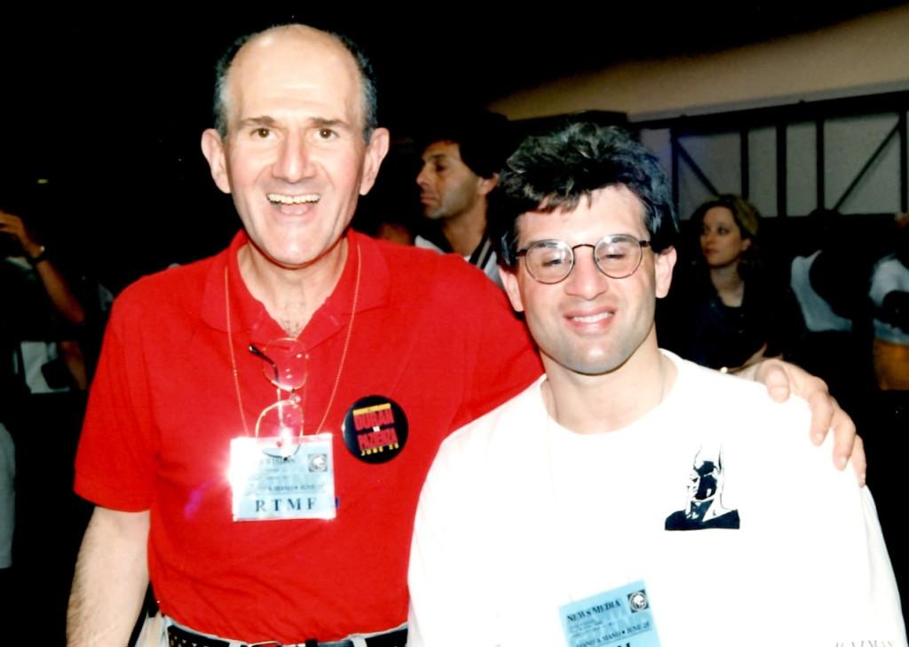 John Rinaldi (R) with famed judge Harold Lederman (L)