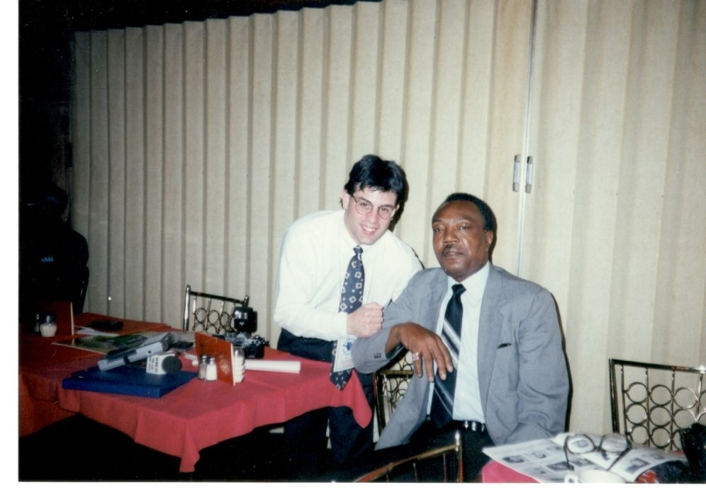 Alex Rinaldi with legendary former light heavy king Bob Foster.
