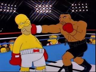 Homer Simpson vs. Mike Tyson