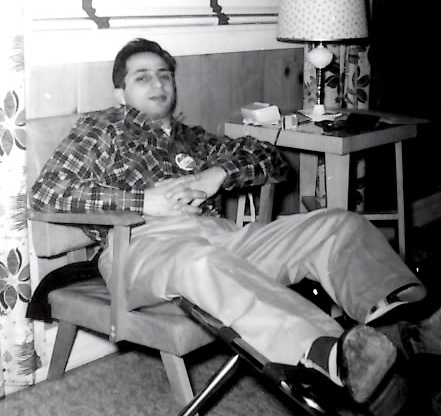 Joseph Rinaldi erlaxing at Roland LaStarza's training camp in the 1950's