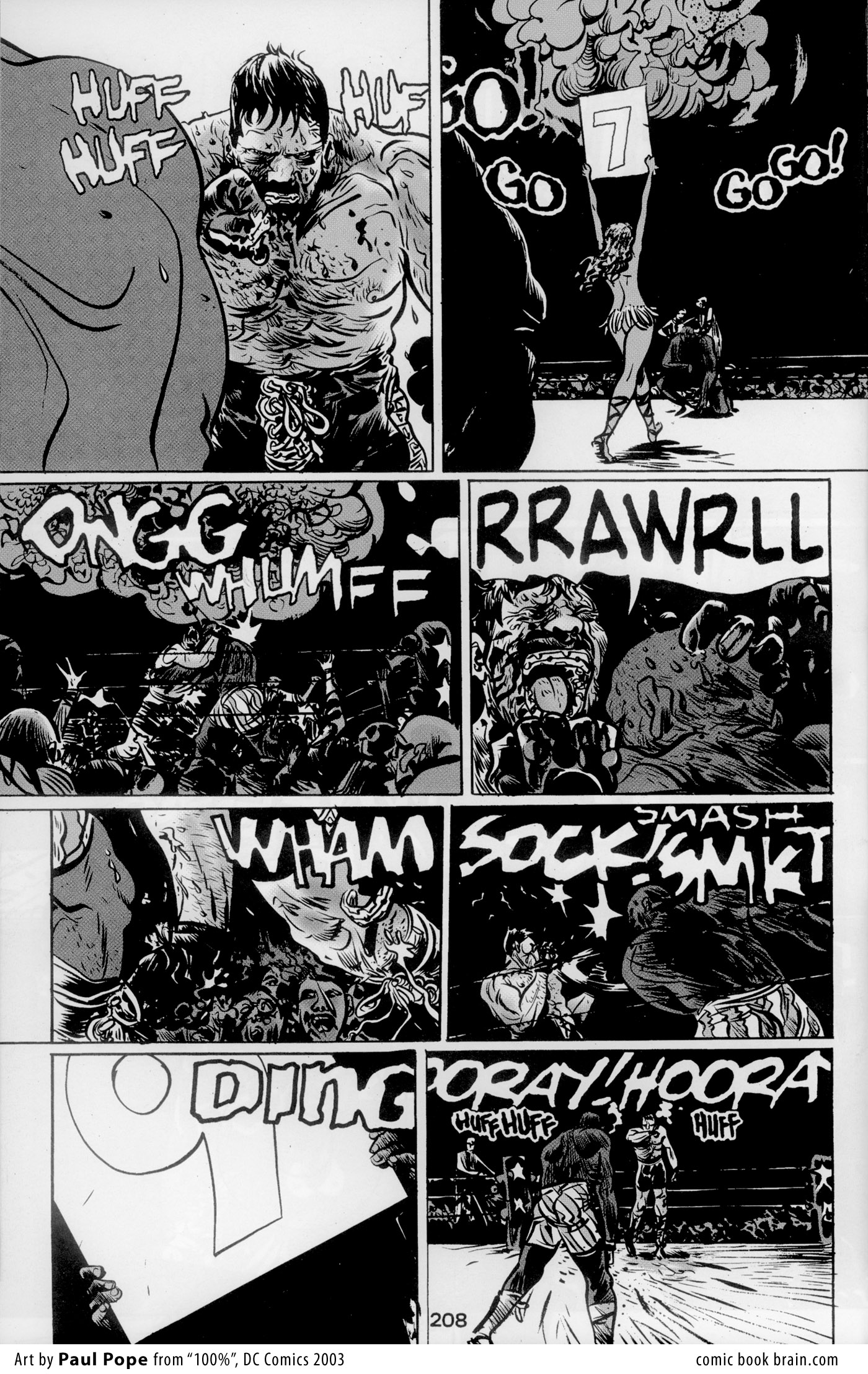 NEWBoxing Comic Black and White