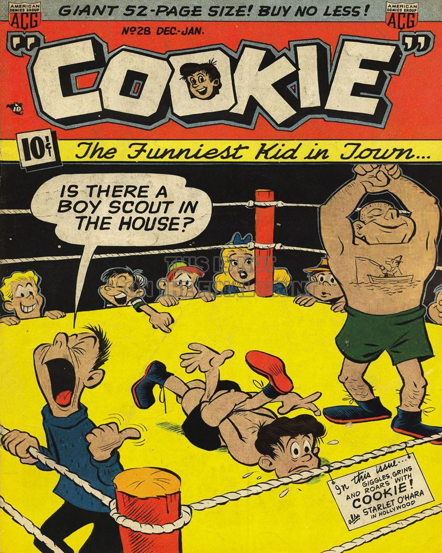 NEWBoxing Comic Book Cookie.