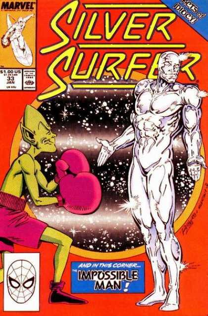 NEWBoxing Comic Book The Silver Surfer.