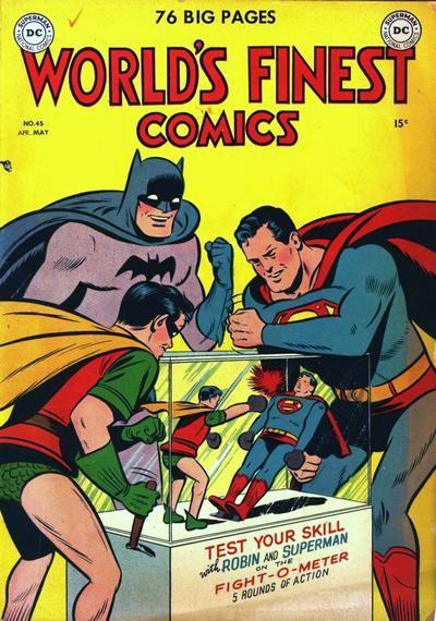 rrrrrrrrrrrrrrrrrBoxing Comic Great Superman vs. Robin