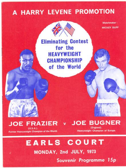 Fight Program - Frazier-Bugner.