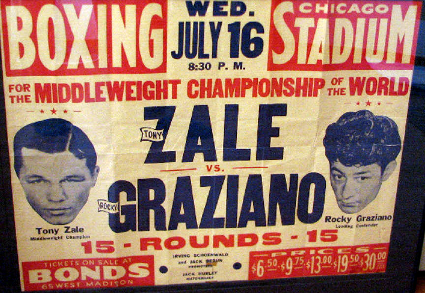 USABNNew boxing poster Zale-Graziano II.