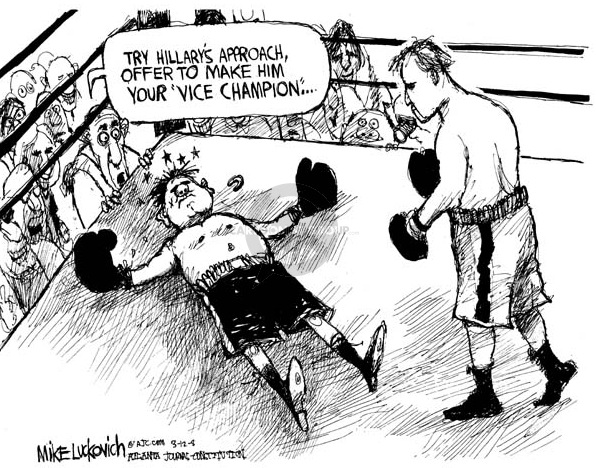 Cartoon political boxing cartoon 1.