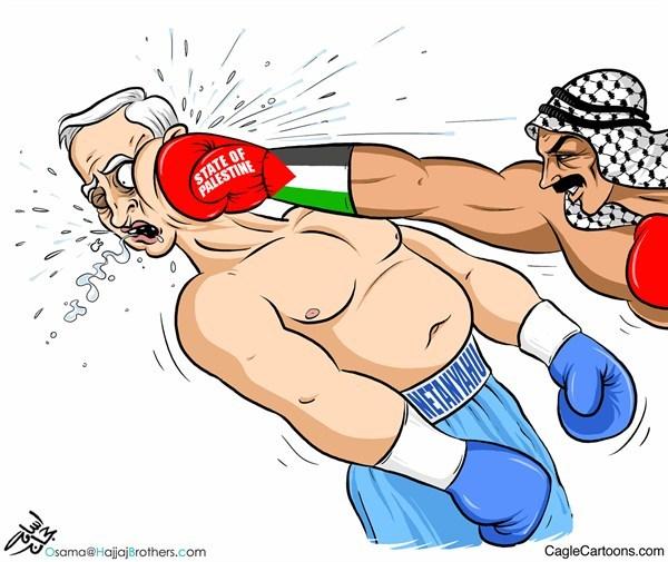 Cartoon political boxing cartoon 11.