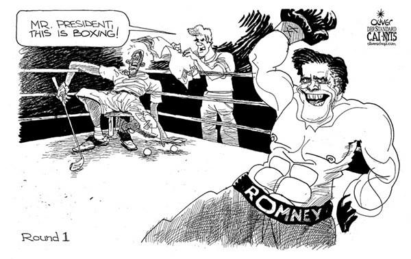 Cartoon political boxing cartoon 2. (1)