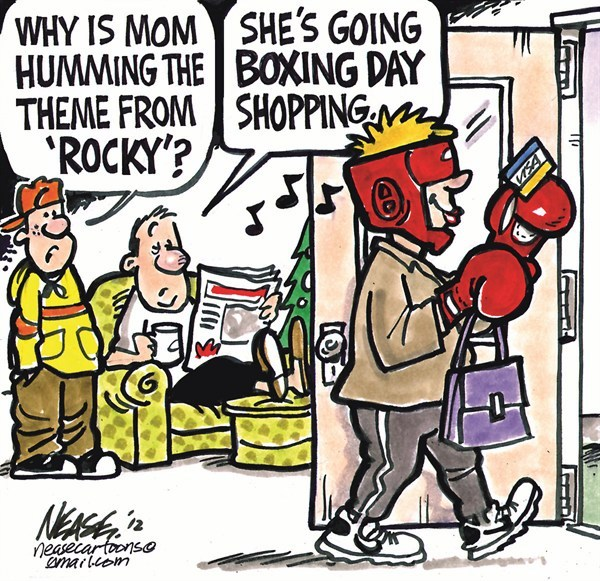 Cartoon political boxing cartoon 6.