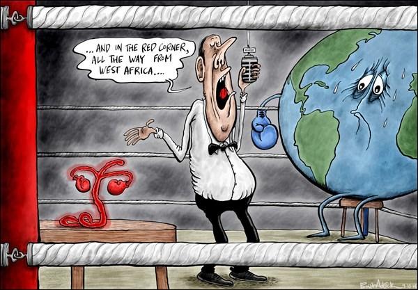 Cartoon political boxing cartoon 9.