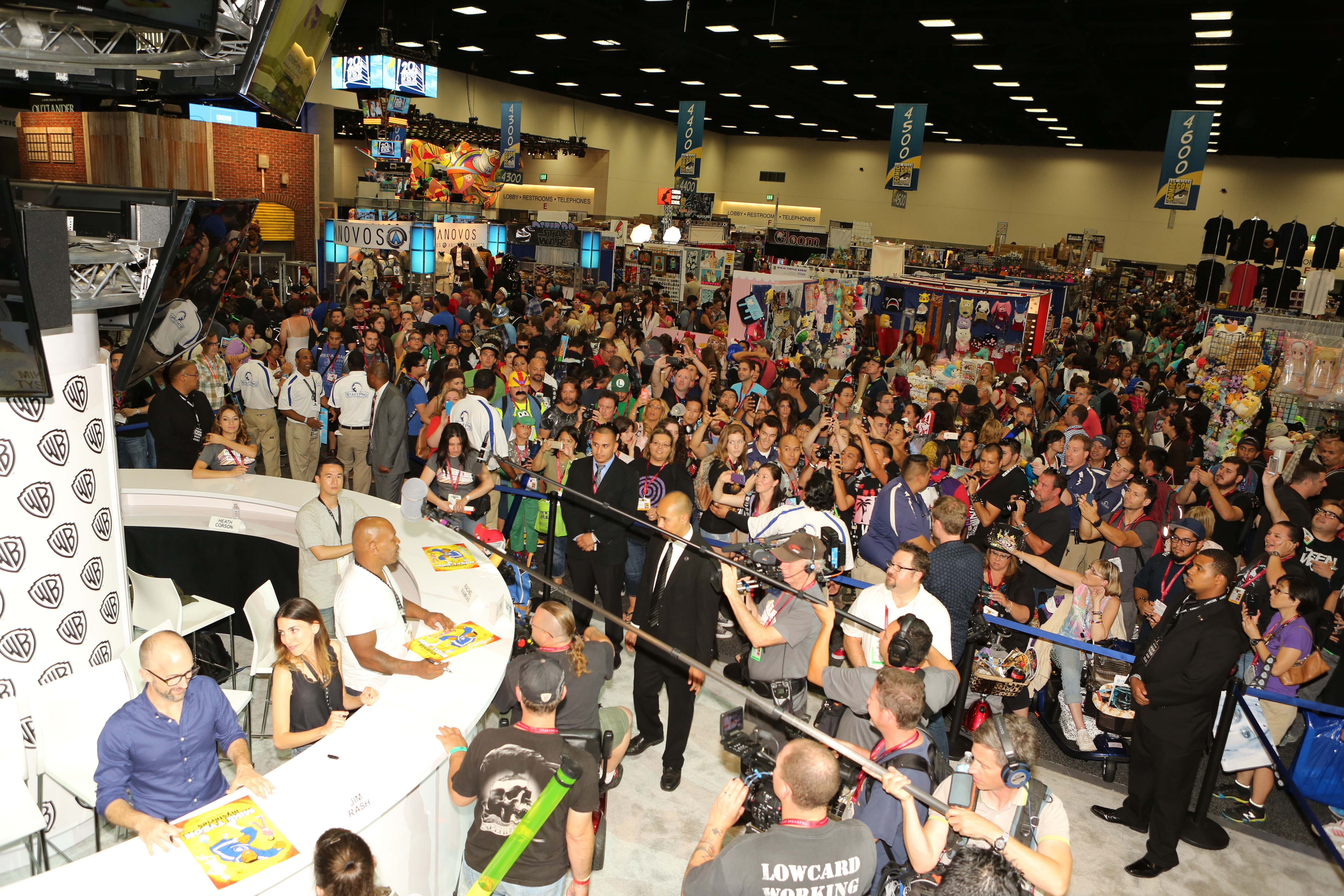 Mike Tyson Mysteries Crowd on hand to see him at San Diego Comic-Con.