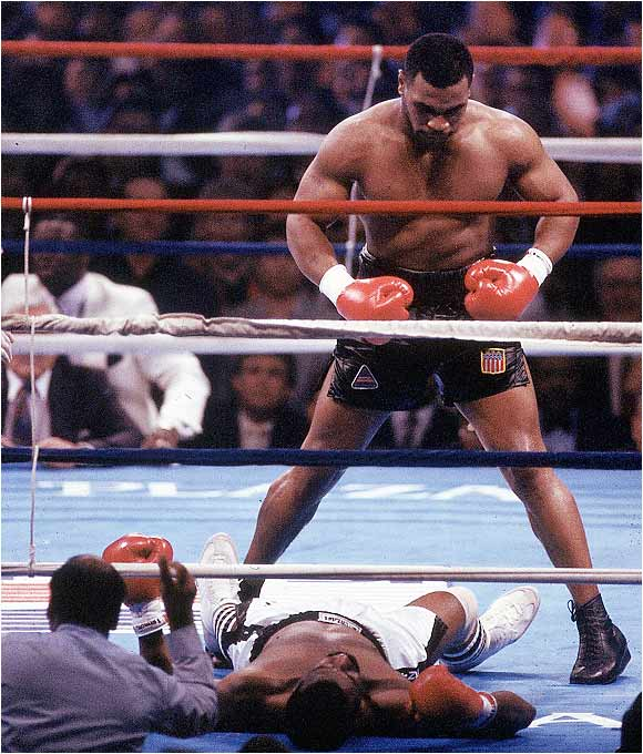 Mike Tyson knocking out Michael Spinks.