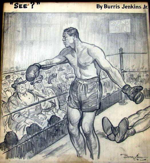 USABNnew boxing cartoon Joe Louis.