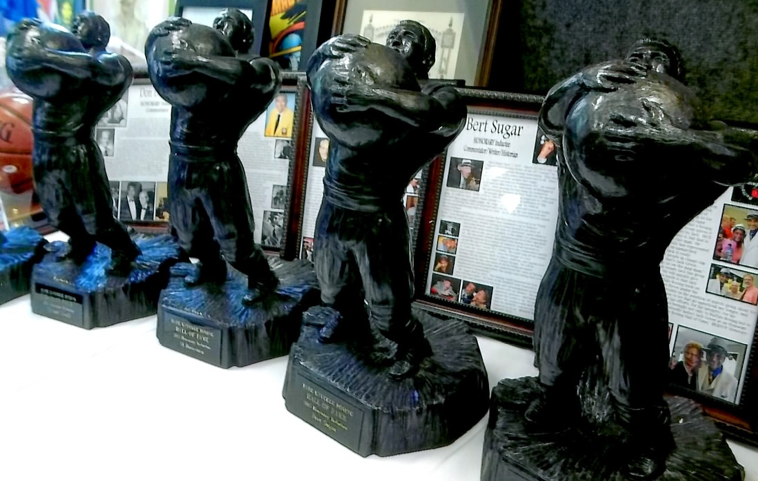 EBare Knuckle Boxing Hall of Fame Inductee Awards featuring William Muldoon's famed invention - the medicine ball