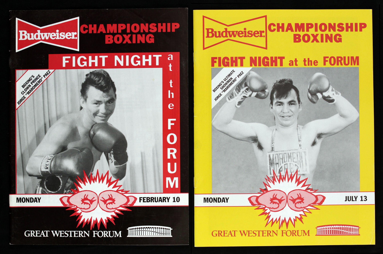 Fight Program - Jorge Paez Fight Programs.