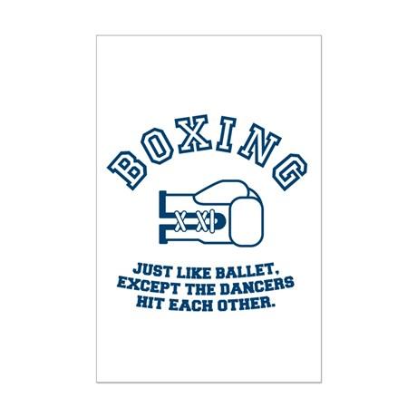 Boxing cartoon poster.