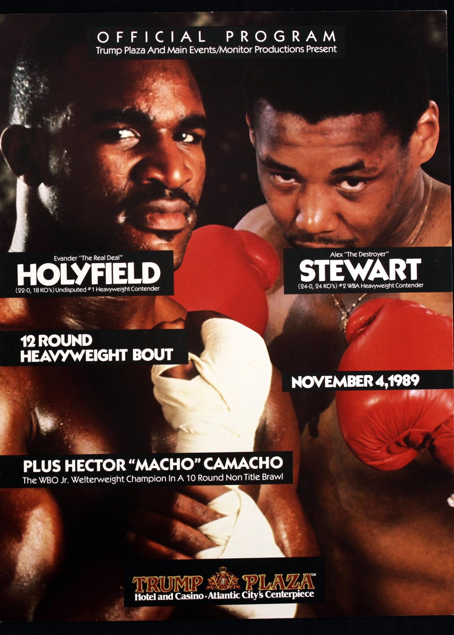 March Holmes and Holyfield programs.