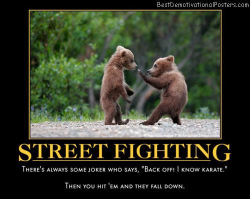 boxing cartoon poster - bear fight.