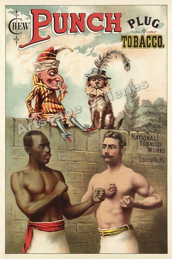 boxing poster cartoon ad