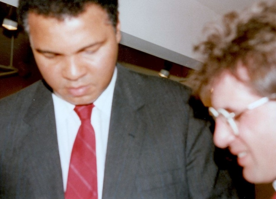 Muhammad Ali with John Rinaldi in 1991