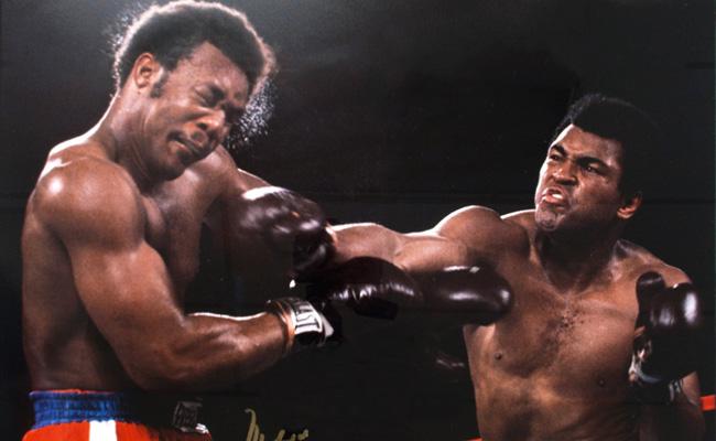 Ali vs. Foreman KO blow.