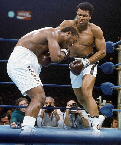 Ali vs. Frazier 1974 action.